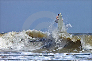 Surfer Wiping Out Stock Image - Image: 15946631