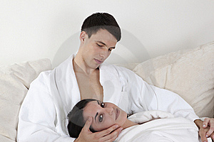 Sexy Young Couple In The Morning Stock Image - Image: 15947261