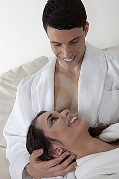 Sexy Young Couple In The Morning Royalty Free Stock Image - Image: 15947336