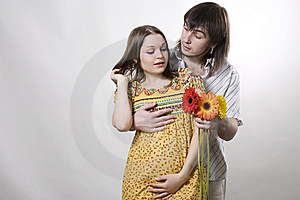 Couple Waiting For Baby Royalty Free Stock Images - Image: 15947659