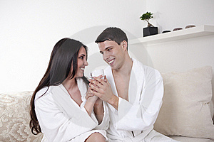 Sexy Young Couple In The Morning Stock Image - Image: 15948071
