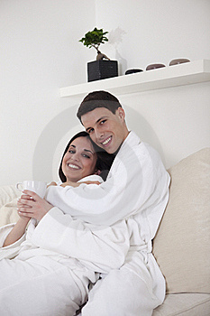 Sexy Young Couple In The Morning Stock Photos - Image: 15948193