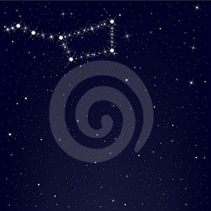 Dark Blue Sky With Constellation. Vector Royalty Free Stock Image - Image: 15948466