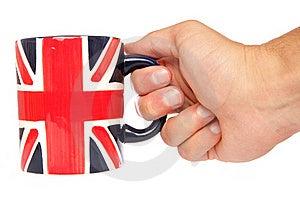 Hand Holding British Mug Royalty Free Stock Image - Image: 15949386