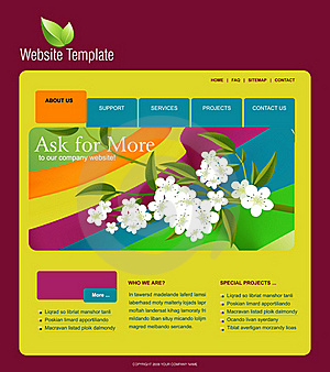 Website Template Royalty Free Stock Image - Image: 15951646
