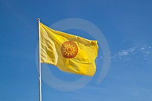 Buddhism Symbol Sway Flag Royalty Free Stock Image - Image: 15951896