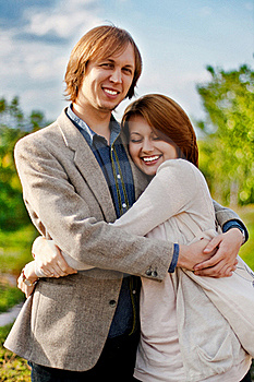 Love Couple In Embrace Royalty Free Stock Photo - Image: 15954275