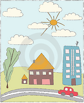 Cartoon Retro Drawing Stock Images - Image: 15954914