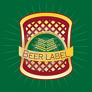 Beer Label Design. Stock Photography - Image: 15954962