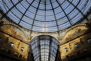 Skylight Of Galleria Vittorio Emanuele Ⅱin Milan Royalty Free Stock Photo - Image: 15959015