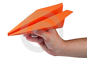 Throw The Plane Stock Image - Image: 15960681