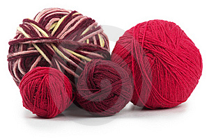 Four Colored Wool Clews Stock Images - Image: 15960704