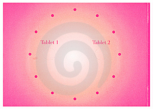 Mystery Tablets 1 And 2 Stock Photography - Image: 15965132
