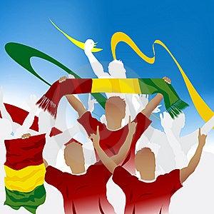 Crowd Of Soccer Fan Stock Image - Image: 15965321