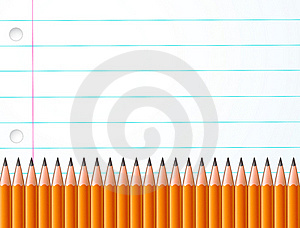 Pencils And Paper Royalty Free Stock Photo - Image: 15966795