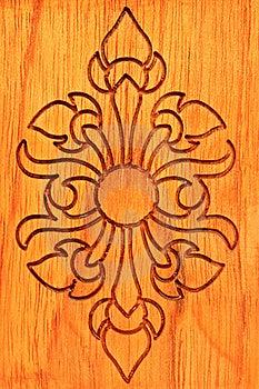 Thai Wood Carve Royalty Free Stock Photos - Image: 15966828