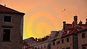 Sunset In Dubrovnik, Croatia Stock Image - Image: 15967431