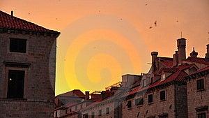 Sunset In Dubrovnik, Croatia Stock Image - Image: 15967431