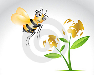 Happy Bee Character Royalty Free Stock Photos - Image: 15968408