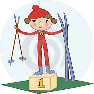 Baby Girl Skier Royalty Free Stock Images - Image: 15969039