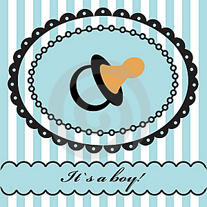 Baby Boy Arrival Announcement . Royalty Free Stock Images - Image: 15969109