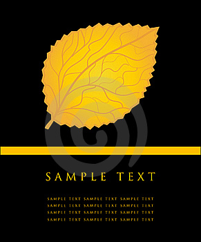 Yellow Leave Card. Royalty Free Stock Photography - Image: 15969197