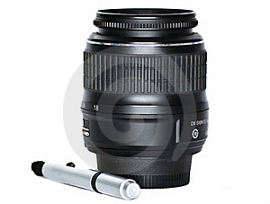 The Lens And Special Pencil For Peelings Of The Le Royalty Free Stock Photo - Image: 15969245