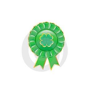 Green Award Rosette. Stock Images - Image: 15969274