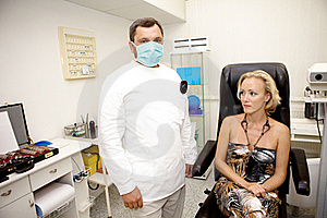 Doctor,examining A Patient Stock Photo - Image: 15969280