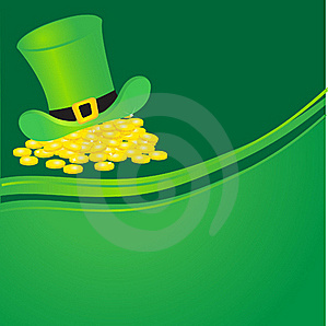 Hat With Gold Coins. Stock Photography - Image: 15969302