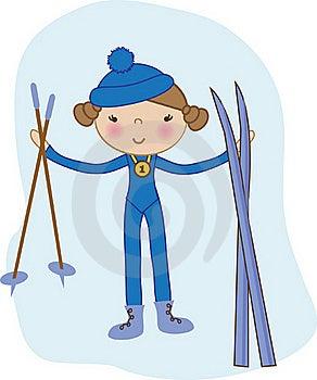 Baby Girl Skier Stock Image - Image: 15969331