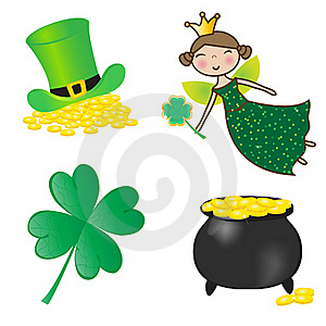 St. Patrick Icons Set. Stock Images - Image: 15969394