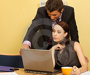 Businesswoman And Businessman Stock Photo - Image: 15973940