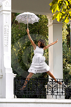 Happy Jumping Girl Royalty Free Stock Image - Image: 15974546