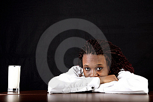 Milk And Afro American Royalty Free Stock Photography - Image: 15975087