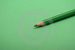 Green Pencil Royalty Free Stock Photography - Image: 15975847
