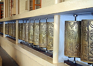 Buddhist Prayer Wheels Royalty Free Stock Photography - Image: 15976337