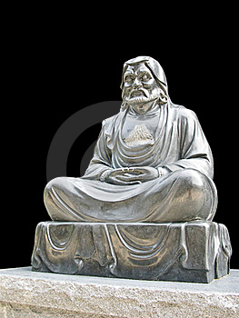 Isolated Monk Buddhist Statue Royalty Free Stock Photography - Image: 15976737