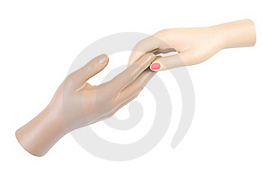 Touch Of Hands | Isolated Stock Photos - Image: 15978083