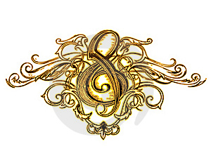 Clef Ornament Stock Image - Image: 15978371