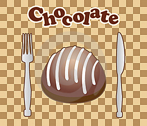Card With Chocolate Candy Stock Photography - Image: 15979282