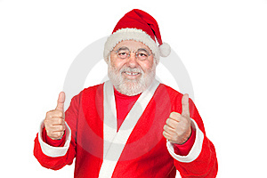 Funny Santa Claus Saying OK With His Thumbs Stock Photo - Image: 15980630