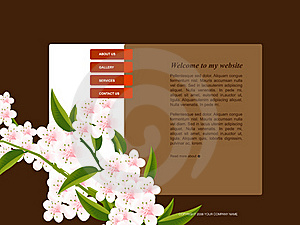 Website Template Royalty Free Stock Photo - Image: 15982425