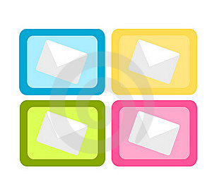 Colorful Mail Icons Royalty Free Stock Images - Image: 15985789