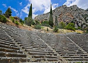 Ruins Of Amphitheater In Delphi, Greece Stock Photos - Image: 15986023