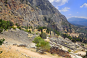 Ruins Of The Ancient City Delphi, Greece Stock Photography - Image: 15986042