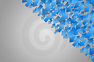 Background With Blue Arrows Royalty Free Stock Photography - Image: 15986697