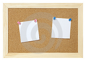 Blank Papers On Cork Board Royalty Free Stock Image - Image: 15987146