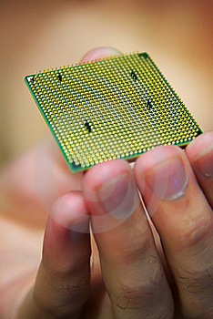 Processor In Hand Royalty Free Stock Photos - Image: 15987498