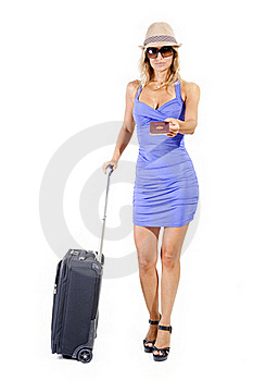 Travelling Woman Stock Image - Image: 15989211